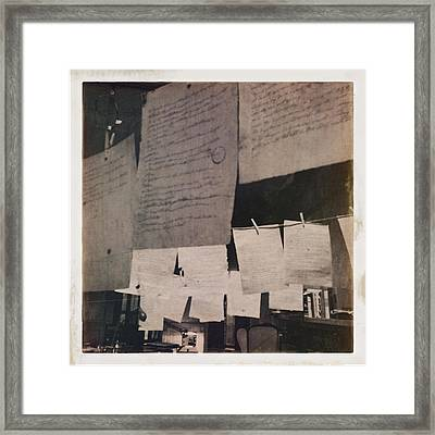 Papers 2 Framed Print by H James Hoff