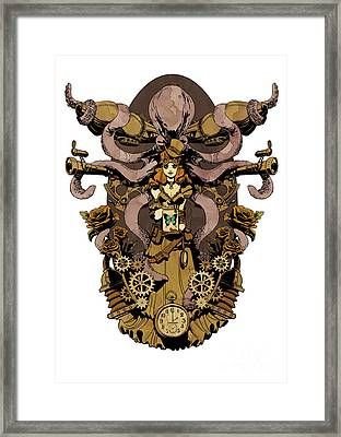 Papillon Mecaniques Framed Print by Brian Kesinger