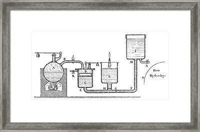 Papin Steam Engine Framed Print by Science Photo Library