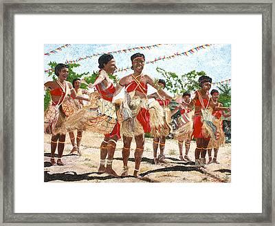 Papua New Guinea Cultural Show Framed Print by Carol Mallillin-Tsiatsios