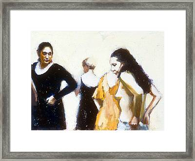 Paquita And Donna Backstage Framed Print by Susanne Forestieri