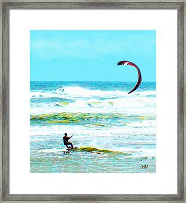 Para-surfer   Framed Print by CHAZ Daugherty