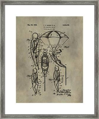Parachute Toy Patent Framed Print by Dan Sproul