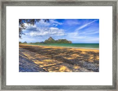 Paradise Beach Framed Print by Adrian Evans