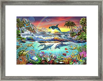 Paradise Cove Framed Print by Adrian Chesterman