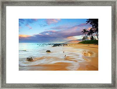 Paradise Dawn Framed Print by Mike  Dawson