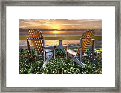 Paradise Framed Print by Debra and Dave Vanderlaan