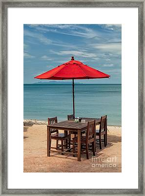 Paradise Dining Framed Print by Adrian Evans