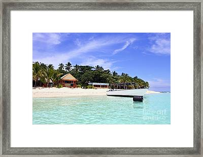 Paradise For Dream Vacation Framed Print by Lars Ruecker