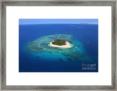 Paradise Island In South Sea I Framed Print by Lars Ruecker