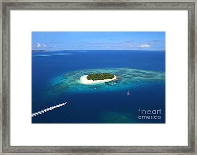 Paradise Island In South Sea II Framed Print by Lars Ruecker
