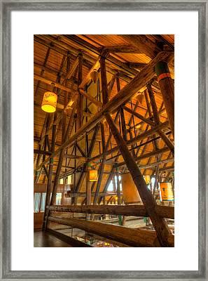 Paradise Lodge Mt Rainier Natl Park Framed Print by Steve Gadomski