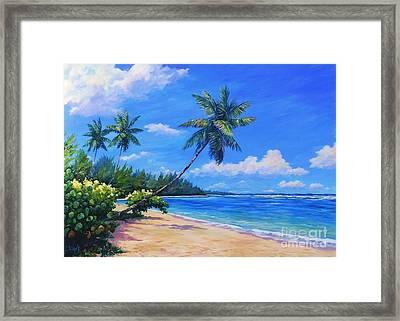 Paradise Palms Framed Print by John Clark