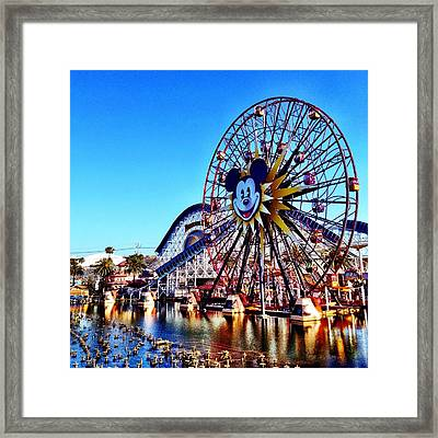 paradise pier CALIFORNIA ADVENTURE Framed Print by Kileen Oberle
