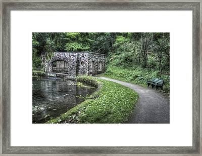 Paradise Springs In Eagle Wisconsin Framed Print by The  Vault - Jennifer Rondinelli Reilly