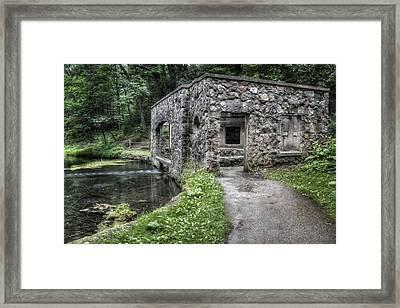 Paradise Springs Spring House 1 Framed Print by The  Vault - Jennifer Rondinelli Reilly