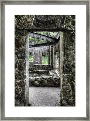 Paradise Springs Spring House Doorway Framed Print by The  Vault - Jennifer Rondinelli Reilly