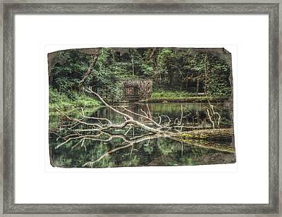 Paradise Springs Spring House Framed Print by The  Vault - Jennifer Rondinelli Reilly