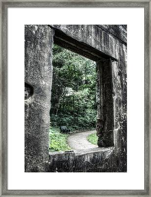 Paradise Springs Spring House Window 1  Framed Print by The  Vault - Jennifer Rondinelli Reilly