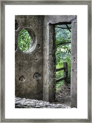 Paradise Springs Spring House Doorway 2 Framed Print by Jennifer Rondinelli Reilly