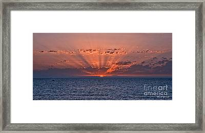Paradise Sunset Framed Print by Alberto Agrusa