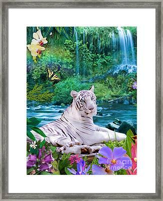 Paradise Tiger Framed Print by Alixandra Mullins