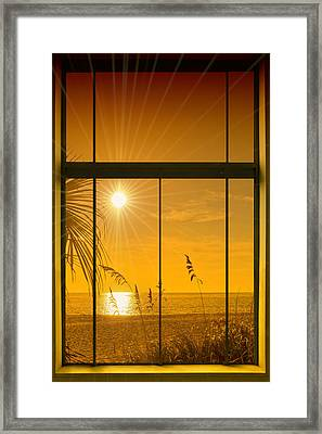 Paradise View II Framed Print by Melanie Viola