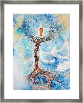 Paramhansa Yogananda - Mist Framed Print by Ashleigh Dyan Bayer