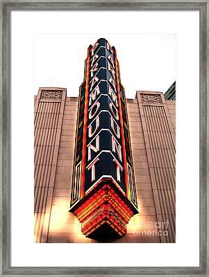 Paramount Framed Print by John Rizzuto