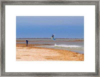 Parasurfer4 Framed Print by Rrrose Pix