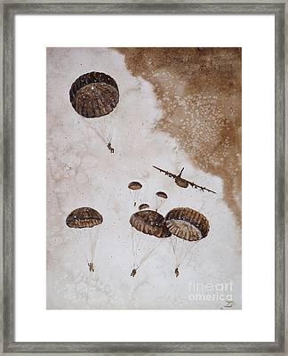 Paratroopers Framed Print by Zaira Dzhaubaeva
