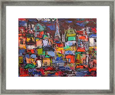 Paris At Night 03 Framed Print by Len Yurovsky