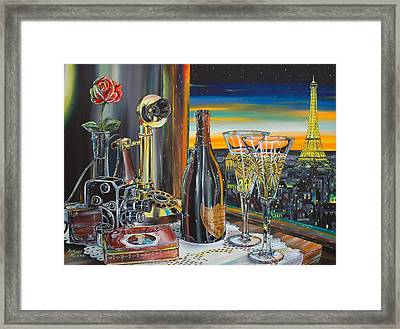 Paris At Sunset Framed Print by Anthony Mezza