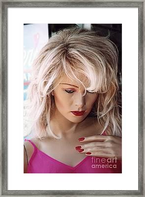 Paris Blonde Female Mannequin Art Deco Framed Print by Kathy Fornal