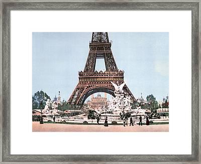 Paris Eiffel Tower, C1900 Framed Print by Granger