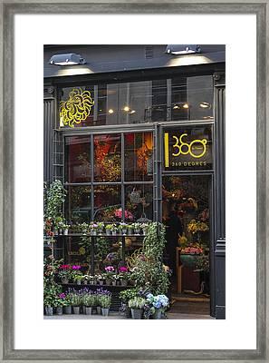 Paris Flower Shop Framed Print by Glenn DiPaola