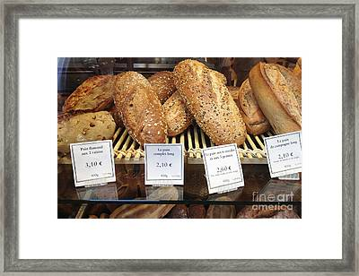 Paris Food Photography - Paris Au Pain Bakery Patisserie - French Bread Framed Print by Kathy Fornal