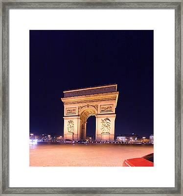Paris France - Arc De Triomphe - 01131 Framed Print by DC Photographer