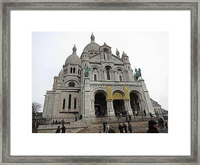 Paris France - Basilica Of The Sacred Heart - Sacre Coeur - 12122 Framed Print by DC Photographer
