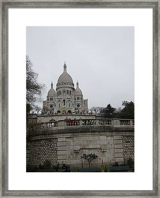 Paris France - Basilica Of The Sacred Heart - Sacre Coeur - 12129 Framed Print by DC Photographer