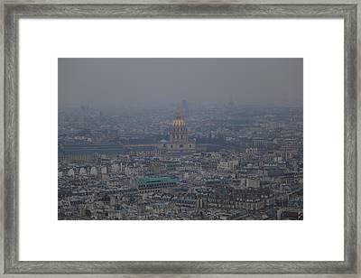 Paris France - Eiffel Tower - 01133 Framed Print by DC Photographer