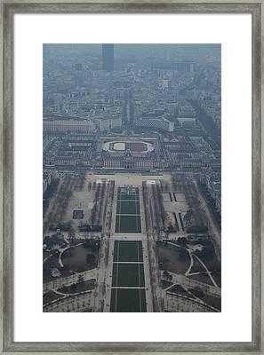 Paris France - Eiffel Tower - 01136 Framed Print by DC Photographer