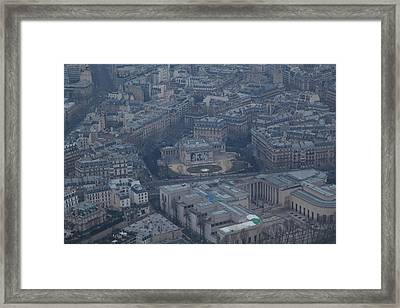 Paris France - Eiffel Tower - 01139 Framed Print by DC Photographer
