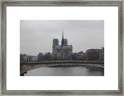 Paris France - Notre Dame De Paris - 011313 Framed Print by DC Photographer