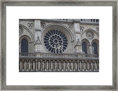 Paris France - Notre Dame De Paris - 01137 Framed Print by DC Photographer