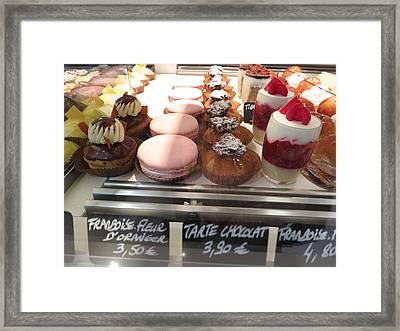 Paris France - Pastries - 1212255 Framed Print by DC Photographer
