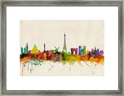 Paris France Skyline Panoramic Framed Print by Michael Tompsett