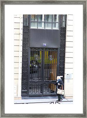 Paris France - Street Scenes - 0113104 Framed Print by DC Photographer