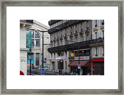 Paris France - Street Scenes - 0113140 Framed Print by DC Photographer