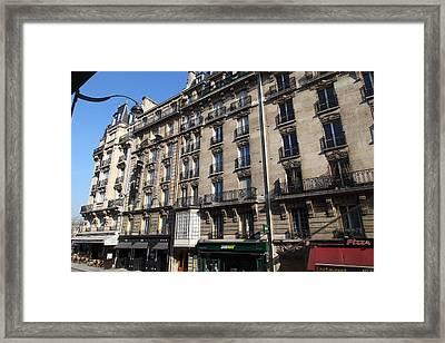 Paris France - Street Scenes - 011321 Framed Print by DC Photographer